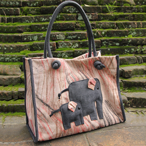 Bag with elephants